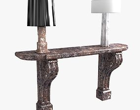 3D model classic console and table lamp