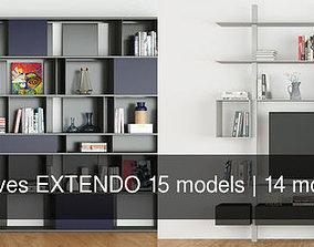 3D Shelves EXTENDO 15 models