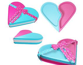 Box pink heart 3D