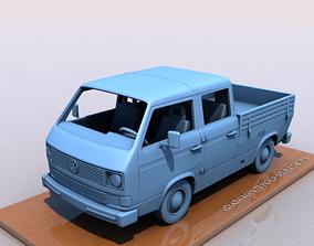 VOLKSWAGEN T3 TRANSPORTER PICKUP DOBLE CAB 3D print model