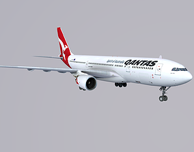 Airbus A 330-200 QANTAS 3D asset