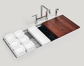 STAGES 45 inch Undermount Single Bowl Kitchen 3D model