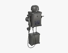 German Wall Telephone WWII 3D asset