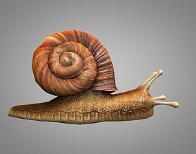 3D asset animated Snail