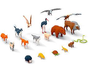 3D asset VR / AR ready Animals lowpoly