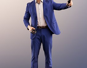 11587 Kilian - Man In Blue Suit With VR Headset And 3D