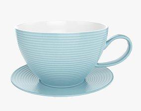 Coffee mug and saucer 02 3D