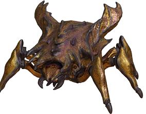 3D asset golden scarab