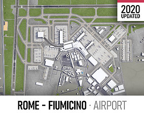 Rome - Fiumicino International Airport Leonardo 3D asset 3