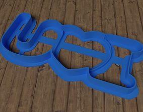 I Love You cookie cutter 3D print model