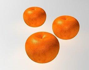 Orange fruit 3D