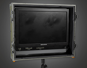 3D model Display Monitor 01a HLW - PBR Game Ready