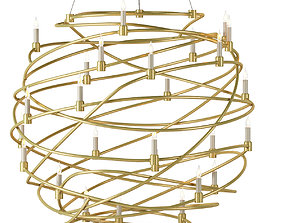 Franchette Orb Chandelier by Currey And Company 3D