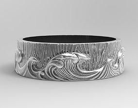 precious Ring Sea and Waves 3D print model