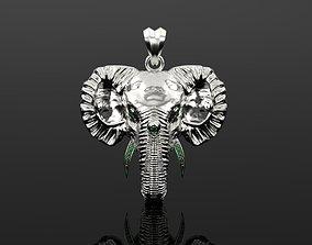 pendants Elephant Diamond pendant 3d print model