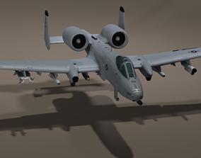 The Fairchild Republic A-10 Thunderbolt II 3D asset