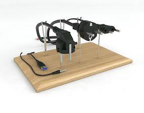 electronics Electrical plugs 220v 3D model