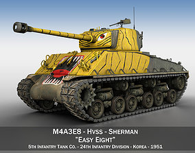 3D model M4A3E8 Sherman - Easy Eight - Korea sherman