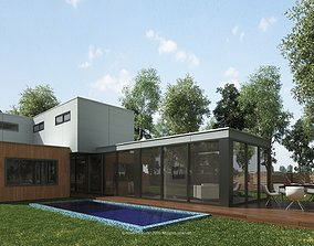 Arce Modern Residential Villa Revit Model 3D