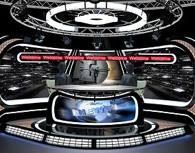 human 3D Virtual TV Studio News Set 34