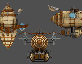 3D model low-poly Airship