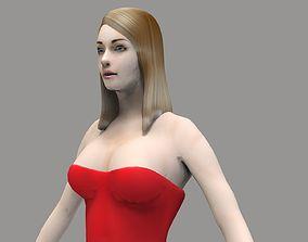 Party Girl 3D asset