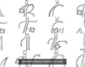 Alphabet A-Z Necklace Collection 3D