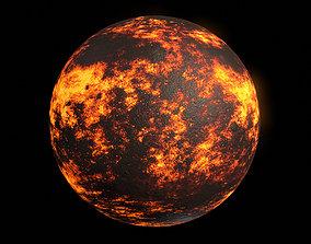 Lava Planet 03 - 8k PBR 3D asset