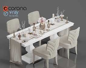 3D Tenarchstudio Dining Table-Decor Render Ready Vray -
