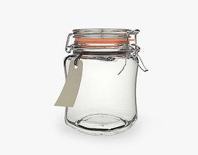 Glass Jar bottle 3D model