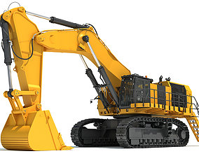 Hydraulic Mining Shovel 3D model