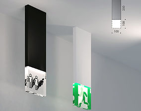 3D model viabizzuno trasparenze wc exit light emergency
