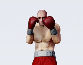 3D model Professional heavyweight boxer