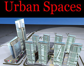 Multi-storied Building in Downtown 3D model