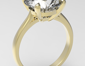 jewel 3D printable model Engagement ring