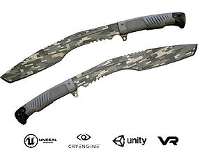 3D model Knife Kukri - Camouflage
