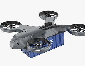 transit Cargo Drone 3D