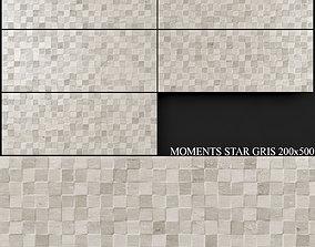 3D model Keros Moments Star Gris 200x500