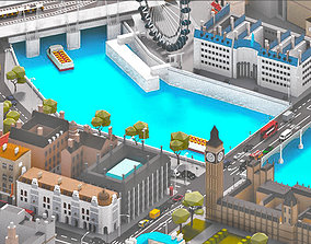 low-poly Low Poly London City-poly 3D model-POLYGON