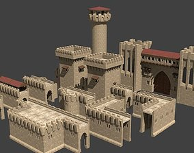 3D asset castle walls collection