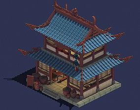 3D model Ancient Chinese City - Pub 01