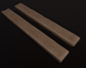 3D asset Stylized woodblock