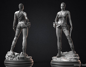 3D print model Angelina Jolie - Lara Croft STL