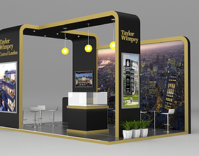 Exhibition Stand Booth 26 sqm 3D model
