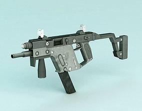 3D asset Submachine Gun