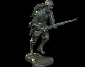 Soldier sculpture 3D print model