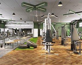 Gym room 2 3D model