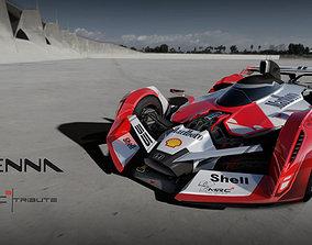 3D asset F1 concept senna tribute