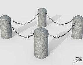 Bollards 3D asset