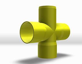 PVC Cross 2 3D model
